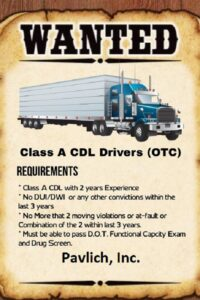 Pavlich Inc CDL Driver Wanted in Kansas City COVID-19 Pandemic blog